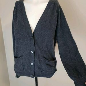 Poetry XS Cashmere Cardigan Grey